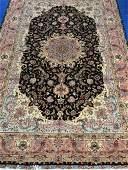 Very Fine Hand Woven Persian Silk & Wool 50 Raj Tabriz