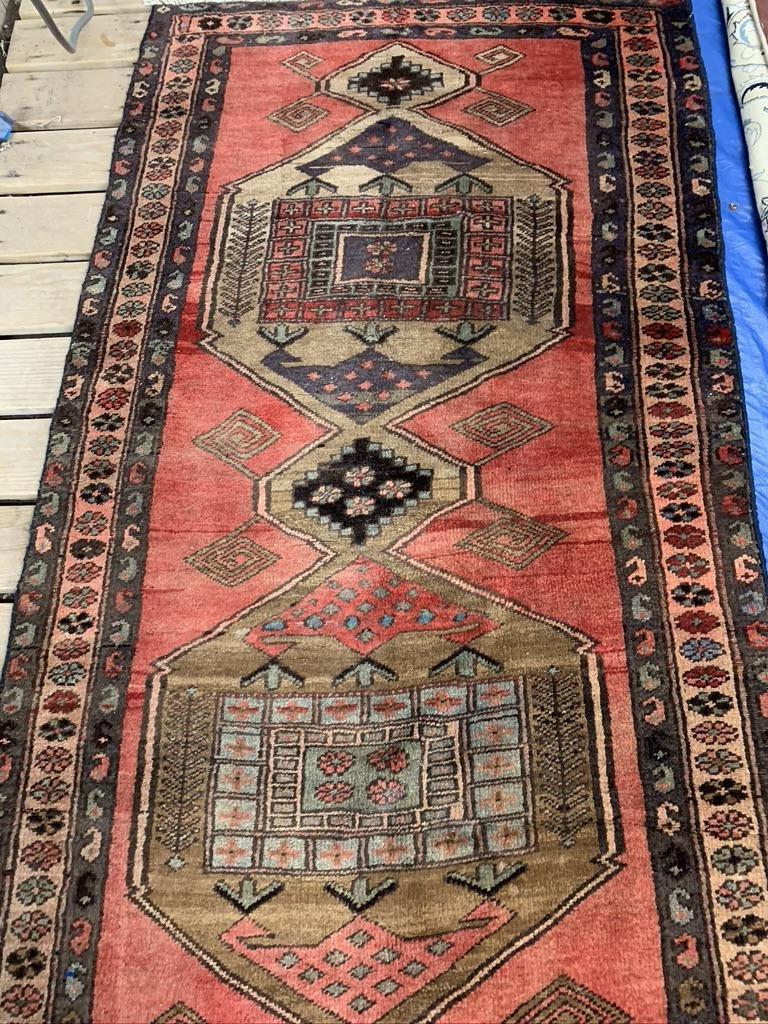 Semi Antique Hand Woven Persian Kurdish 9.5x3.8 ft