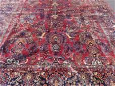 Semi Antique Hand Woven Persian Sarouk 12.3x10 ft