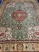Semi Antique Hand Woven Persian Tabriz Taba 119x810