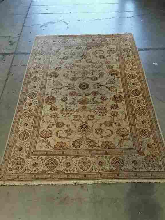 Semi Antique Hand Woven Persian Kashan 6.8x4,4 ft