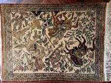 Semi Antique Hand Woven Persian Qum Silk 2.8x1.7 ft