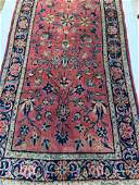 Semi Antique Hand Woven Persian Sarouk 2x4.3 ft