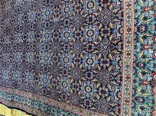 Semi Antique Hand Woven Persian Tabriz 12,5x9.5ft