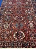 Semi Antique Hand Woven Persian Heriz 10.5 x8 ft