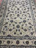 Semi Antique Hand Woven Persian signed Kashan 8x12.4 ft