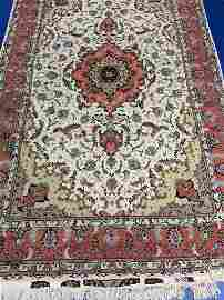 Semi Antique Hand Woven Persian Silk & Wool Tabriz 50