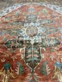 Semi Antique Hand Woven Persian Heriz 14.5x10.5 ft