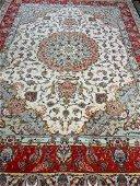 Semi Antique Hand Woven Silk&Wool 50 Raj Tabriz