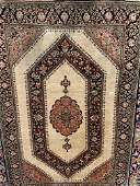 Semi Antique Hand Woven Persian Qum Silk 3x5 ft