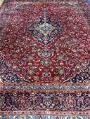 Semi Antique Hand Woven Persian Kashan 13x98 ft