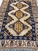 Semi Antique Hand Woven Persian Shirvan 49x31 ft