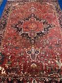 Semi Antique Hand Woven Persian Heriz 116x78 ft