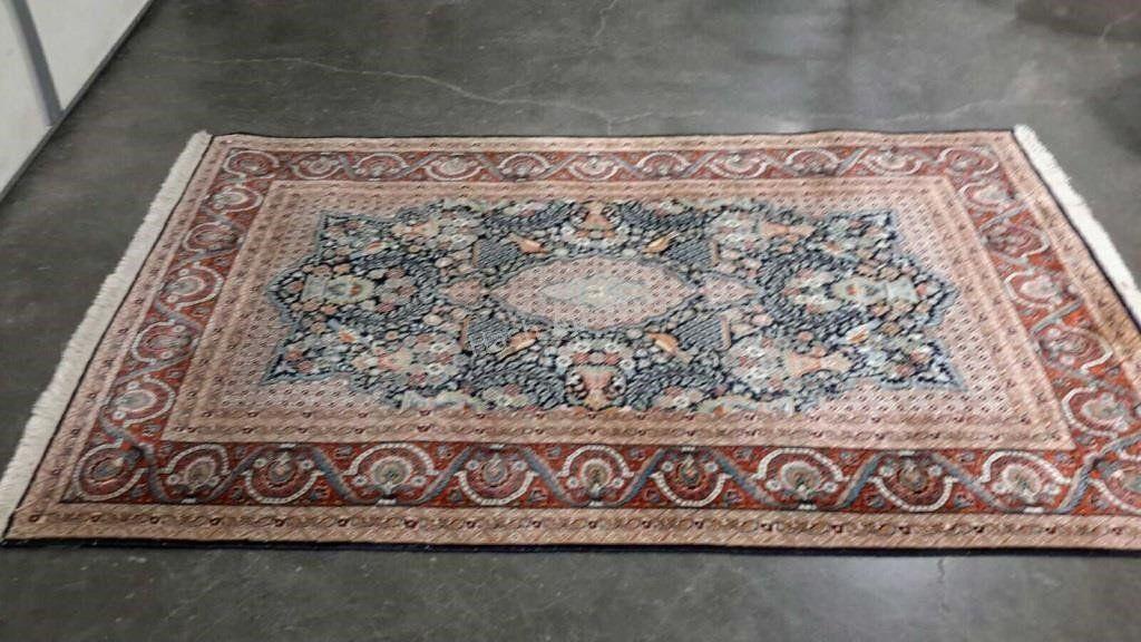 Semi Antique  Hand Woven Persian Silk Tabriz 4x6.2