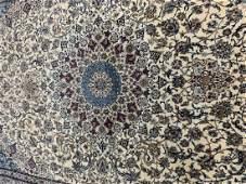 Hand Woven Persian Silk & Wool 6 La Nain 10.2x6.10 ft