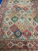 Semi Antique Persian  Hand Woven Tabriz 12x8 ft