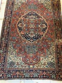 Semi Antique Hand Woven Persian Sarouk 4x6 ft