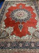 Semi Antique Hand Woven Persian Tabriz 9x12 ft