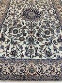 Semi Antique Hand Woven Persian Nain 6.11x4.2 ft