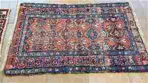 Semi Antique Hand Woven Persian Lilihan 5.5x3.3 ft