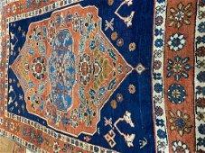 Antique Hand Woven Persian Heriz 4x6.3 ft
