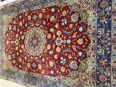 Semi Antique Hand Woven Persian Esfahan 56x4 ft