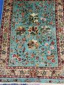 Very Fine  Hand Woven Persian Silk Qum 6.6x4.4 ft