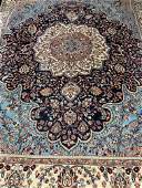 Semi Antique Hand Woven Persian Indo Tabriz 9x12 ft