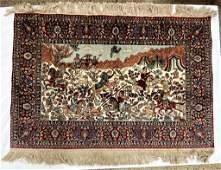 Semi Antique Hand Woven Persian Silk Tabriz 2x3 ft