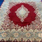 Semi Antique Hand Woven Persian Kermen 11.3x7.10 ft