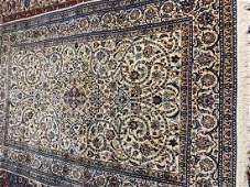 Fine Hand Woven Persian Silk&Wool 6 La Nain 6x9 ft