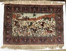 Semi Antique Hand Woven Persian Tabriz 2x3 ft