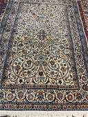 Fine Hand Knotted Persian Silk&Wool 6 la Nain 9x6 ft
