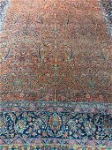 Antique Hand Knotted Persian Manchester Kashan 11x15 ft