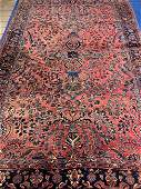 Hand knotted Persian Sarouk 7x11 ft