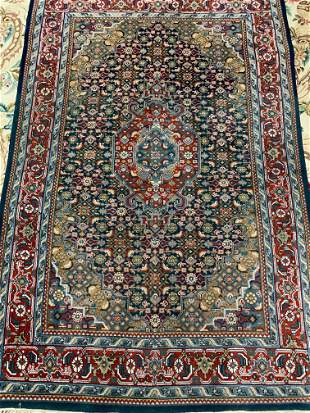 Semi Antique Hand Woven Persian Tabriz 6.7x4.1 ft