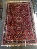 Semi Antique Hand Woven Persian Sarouk 4.3x6.2 ft