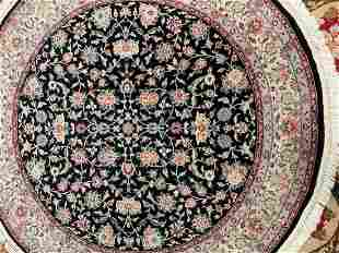 Hand Knotted Persian indo Tabriz 6x6 ft