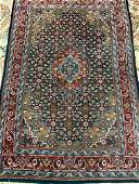 Semi Antique Hand Woven Persian Tabriz 6.7x4.1 ft