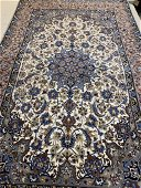 Hand Knotted Persian Silk&Wool Esfahan 3x5 ft