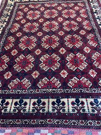 Very Fine Hand Knotted Persian Turkman 6.3x5 ft