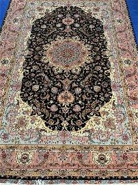 Semi Antique Hand Woven Persian  Silk& Wool 50 Raj