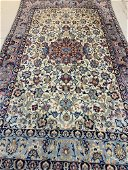 Hand Knotted Persian Silk& Wool Esfahan Rug 5.3x3.3