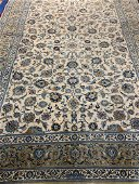 Hand Knotted Persian Kashan Rug 8.10x12.3 ft