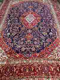 Hand Knotted Persian Kashan 13.4x9.6 ft