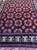 Hand Knotted Persian Turkman 6.3x5 ft