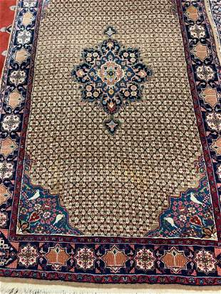 Hand Knotted Persian Sarouk Rug  8.5xx5  ft