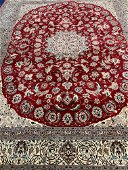 Hand Knotted Persian Tabriz 10x8 ft