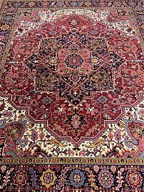 Hand Knotted Agra Heriz 8x10 ft