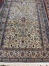 Hand Knotted Persian Silk&Wool Nain 9x6 ft .Free Ship